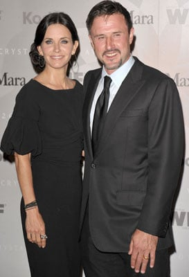 Picture of David Arquette and Courteney Cox Who Recently Separated
