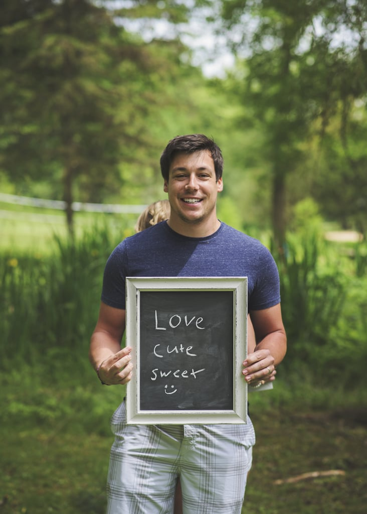 This Woman Used a Chalkboard to Surprise Her Husband With Her Pregnancy