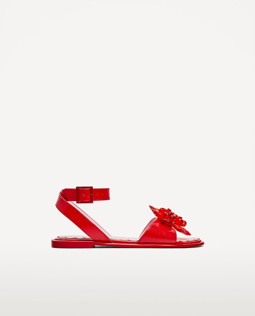 Zara Flower Bead Detail Sandals