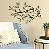 Stratton Home Decor Patina Blowing Leaves Metal Wall Decor