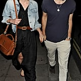 Keira Knightley walked hand in hand with James Righton in London.