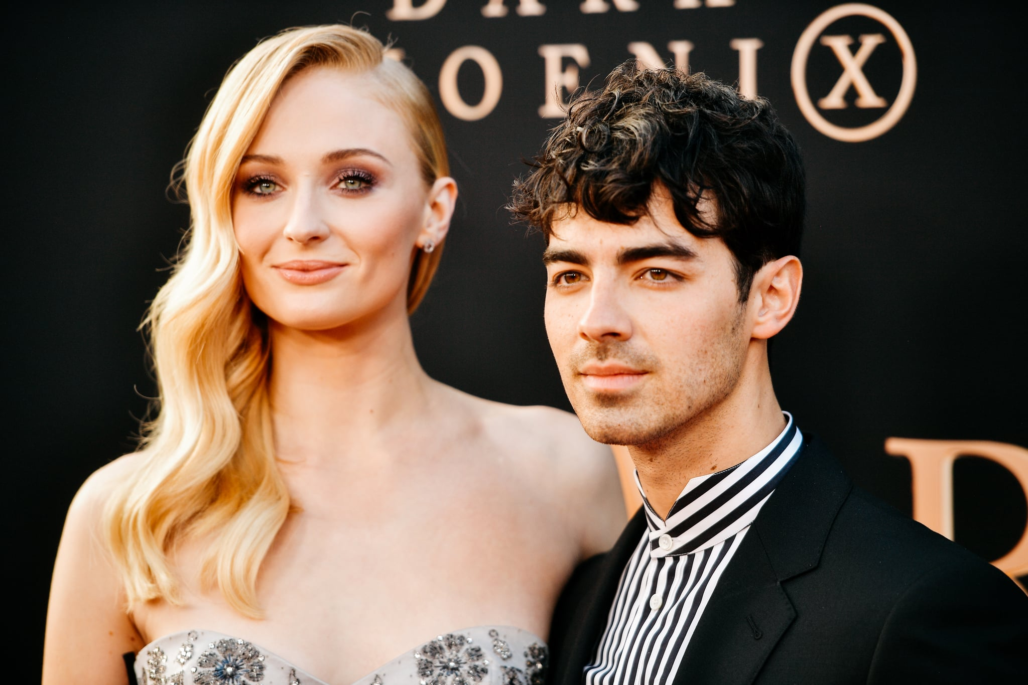 HOLLYWOOD, CALIFORNIA - JUNE 04: (EDITORS NOTE: Image has been processed using digital filters) Sophie Turner and Joe Jonas attend the premiere of 20th Century Fox's