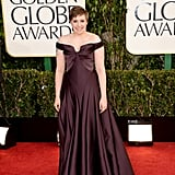 GIRLS creator, director and star Lena Dunham also opted for a dark merlot number by Zac Posen.