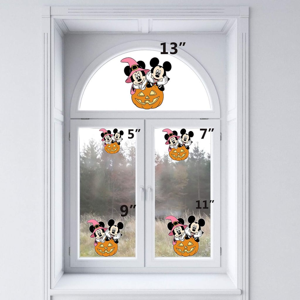Halloween Minnie and Mickey Mouse Static Cling Decoration