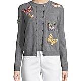 Valentino Butterfly-Embroidered Cardigan Set
