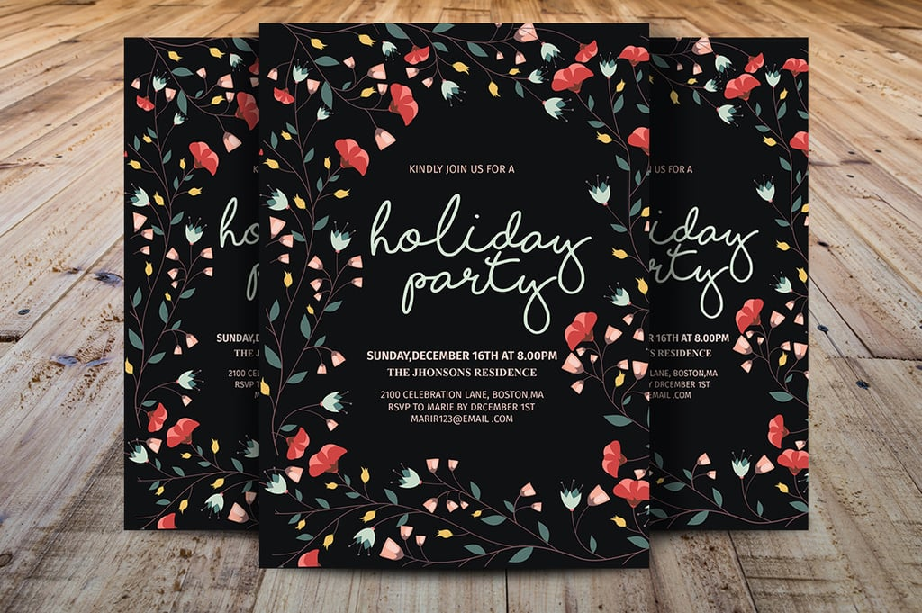 holiday party email invitations