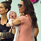 Harper Beckham let out a big yawn during a visit to Marc Jacobs's SoHo boutique in September 2011.