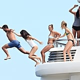 Selena Gomez took the plunge during her vacation with Cara Delevingne in Saint-Tropez.