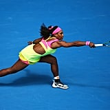 Serena Williams Wearing a Cutout Dress at the Australian Open in 2015