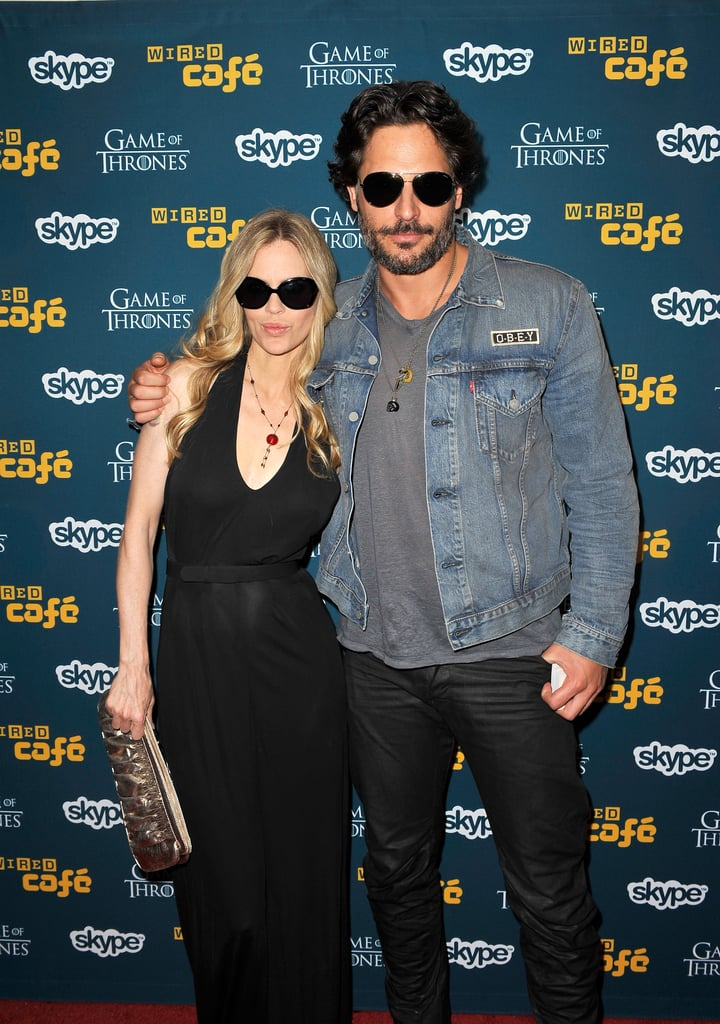 True Blood's Kristin Bauer and Joe Manganiello kept their shades on for an event in 2012.