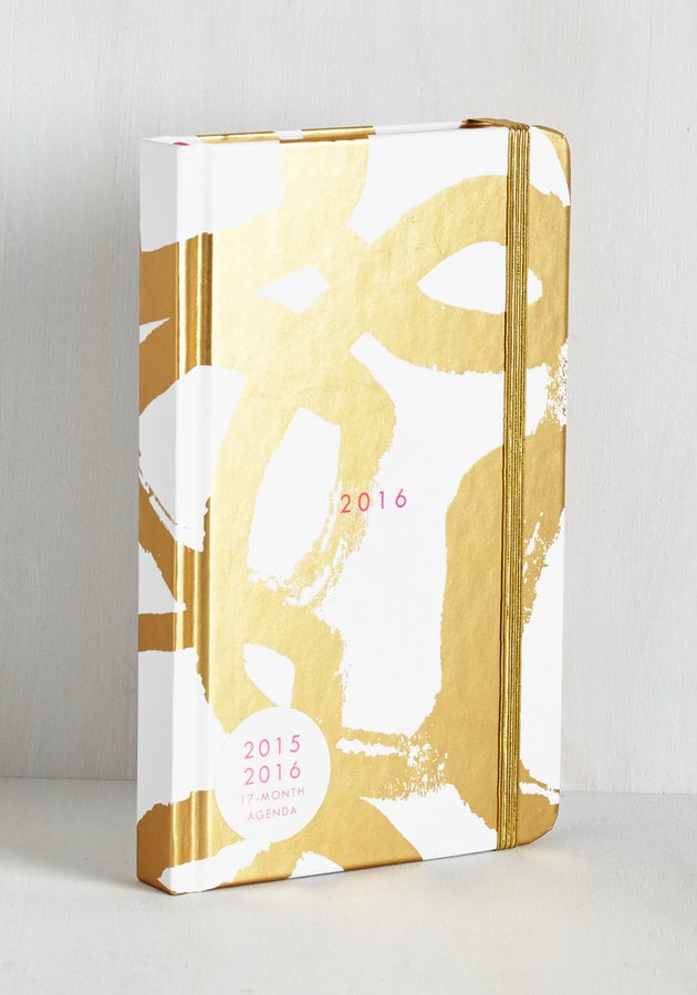 Glam With a Plan 2016 Planner in Gold Swirl