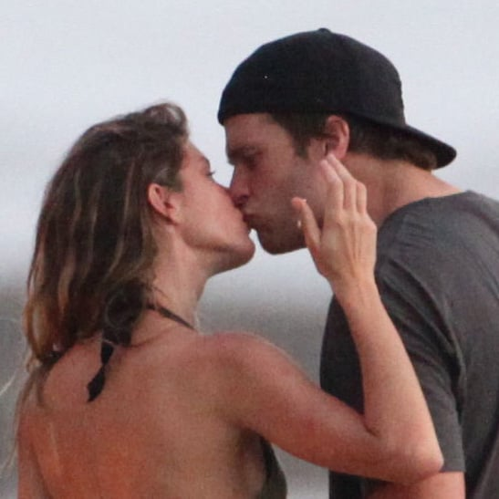 Gisele Bundchen and Tom Brady kissed.
