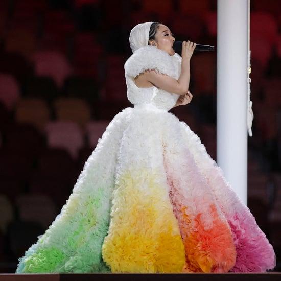 Misia's Rainbow Tomo Koizumi Gown During Tokyo Olympics