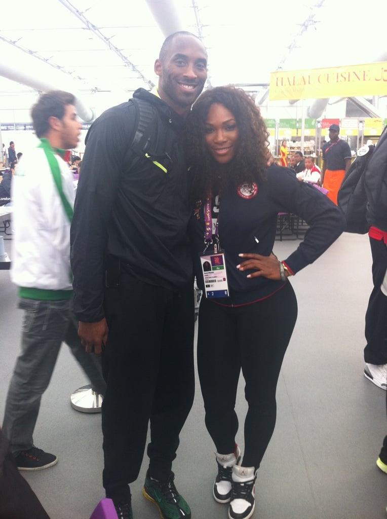 Serena Williams ran into Kobe Brant inside the Olympic Village. Source: Mobli user Serena Williams