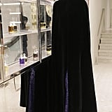 L'Wren Scott joined Barneys in a caped ensemble to help launch the newly renovated beauty floor.