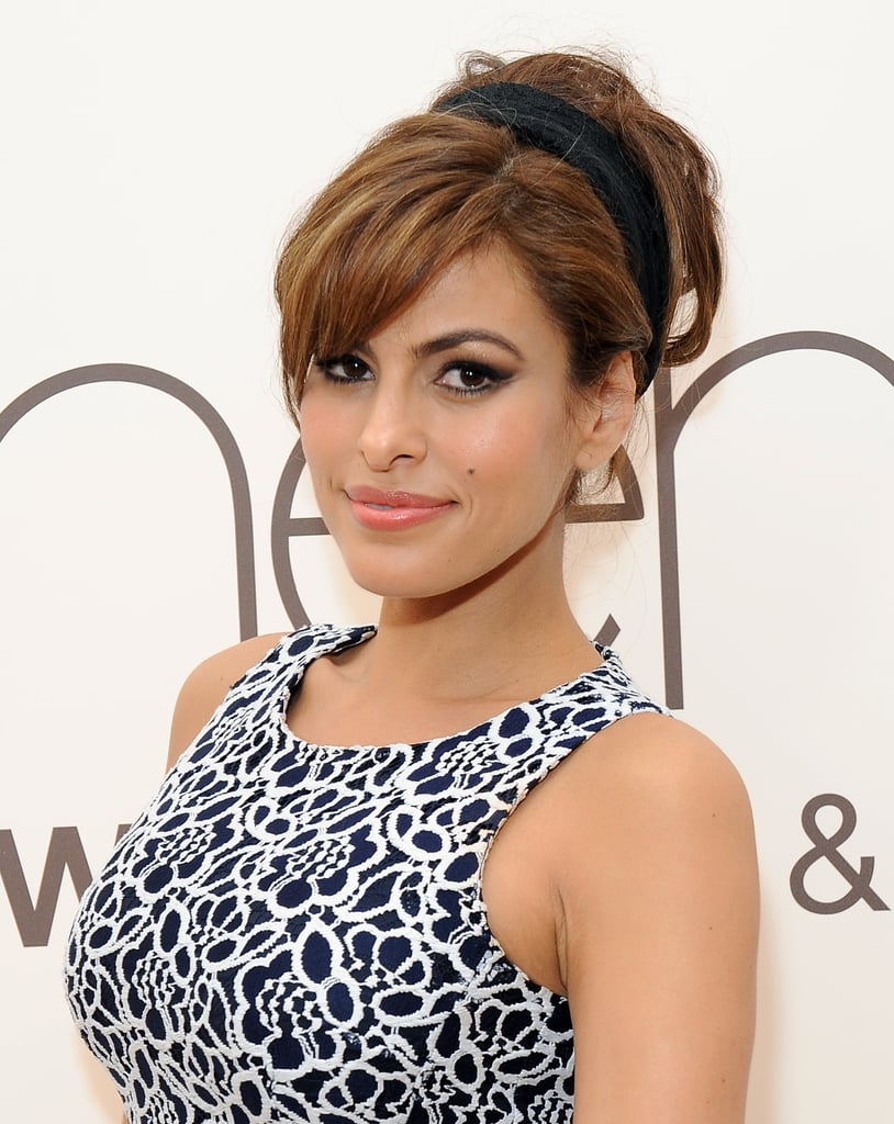 Mum-to-Be Eva Mendes Never Met a Headband She Didn't Love