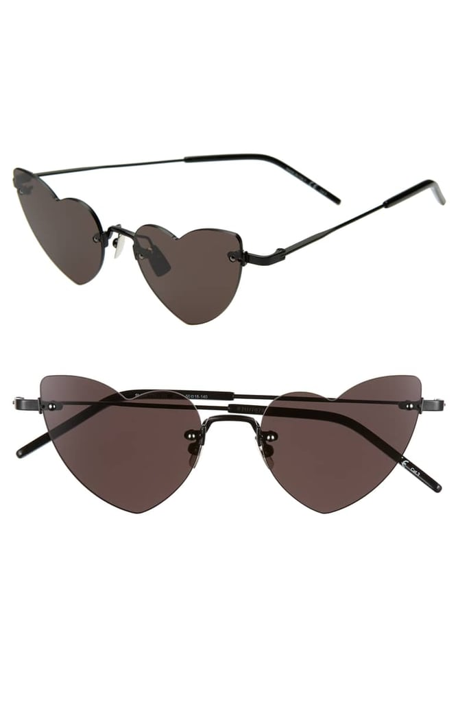 32626c394b2 Saint Laurent 50mm Rimless Heart Shaped Sunglasses