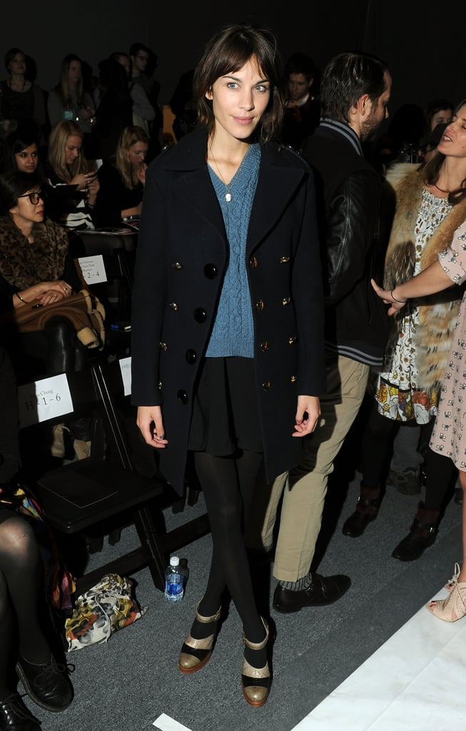 Alexa Chung kept it simple in Winter staples at Honor.