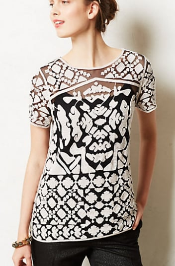 This Everleigh Rococo Tee ($98) is a little more unexpected than a sequined holiday top  — but that's why I love it. I'll wear it even after holiday party season is over. — HW