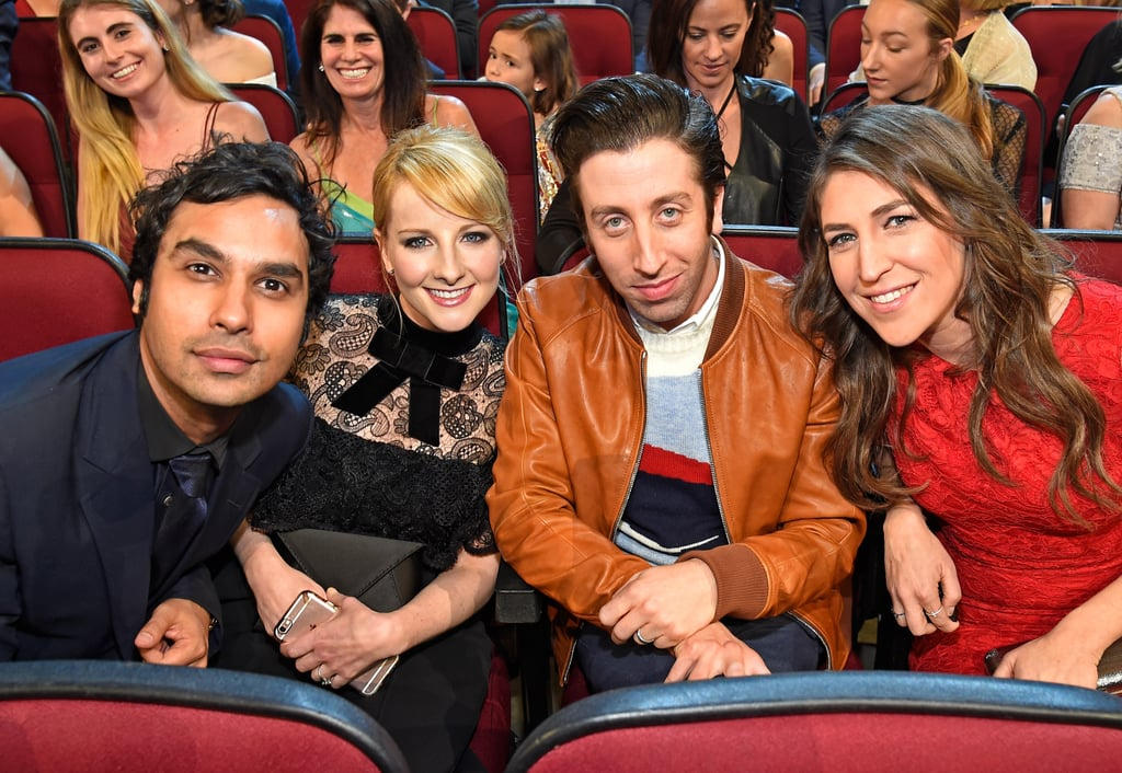 Pictured: Mayim Bialik, Simon Helberg, Melissa Rauch, and ...