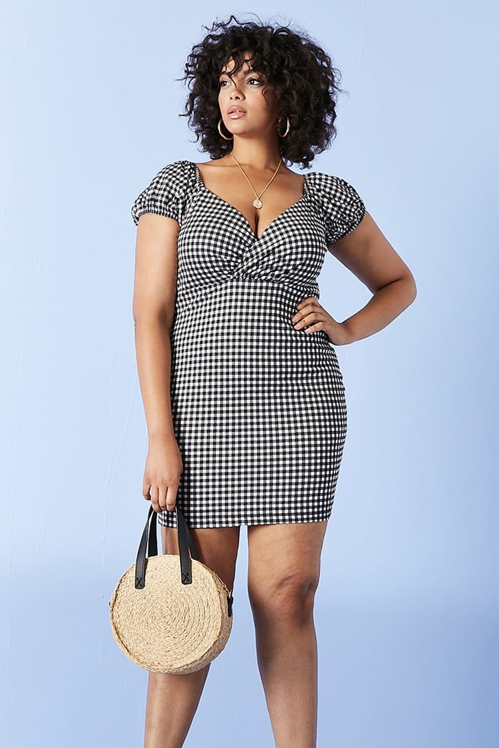 Forever 21 Plus Size Gingham Mini Dress | Gingham Dress at ...