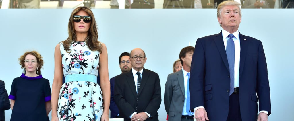 Melania Trump's Bastille Day Dress Has Plenty of Florals and a Patriotic Undertone