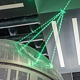 A closer look at the Death Star's beam.