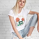 "Express ""Wild at Heart"" Rose Boxy Graphic Tee"