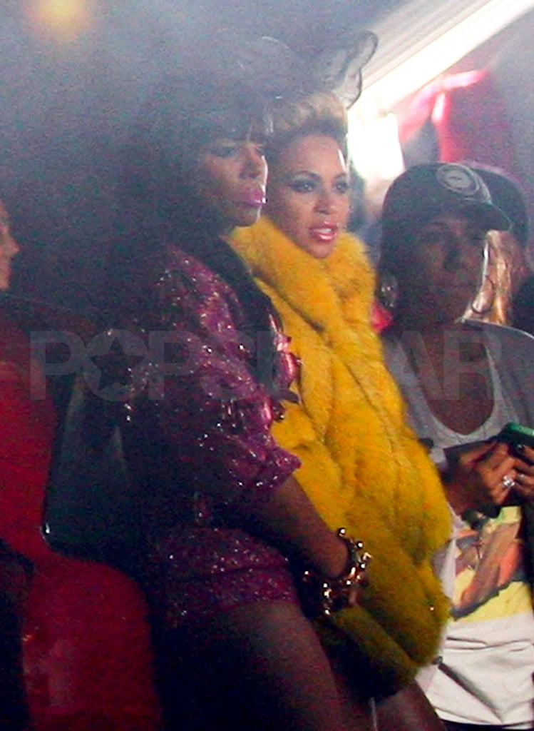 """Beyoncé Knowles and Kelly Rowland in NYC shooting the video for """"Party."""""""