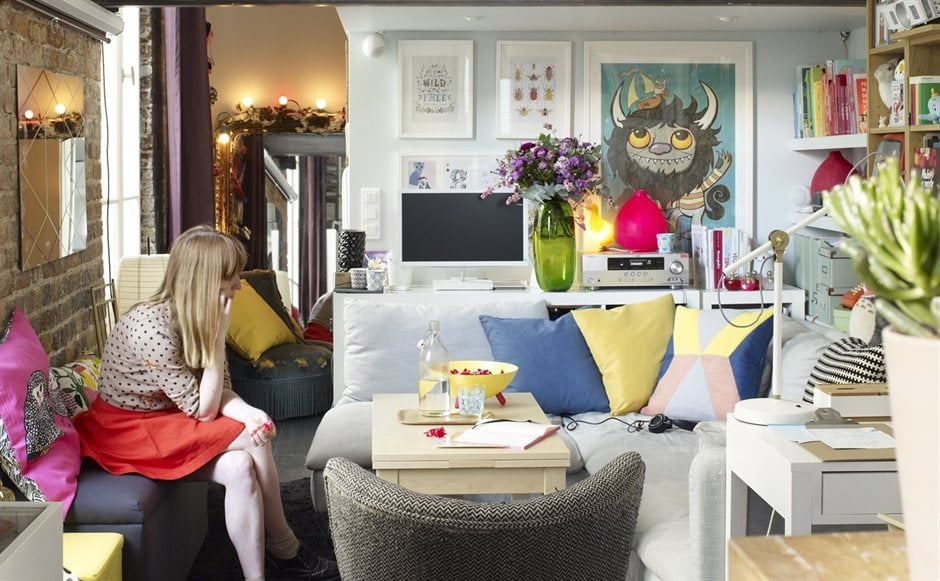 Tiny ikea inspired apartment in paris popsugar home - Home decor for small spaces image ...