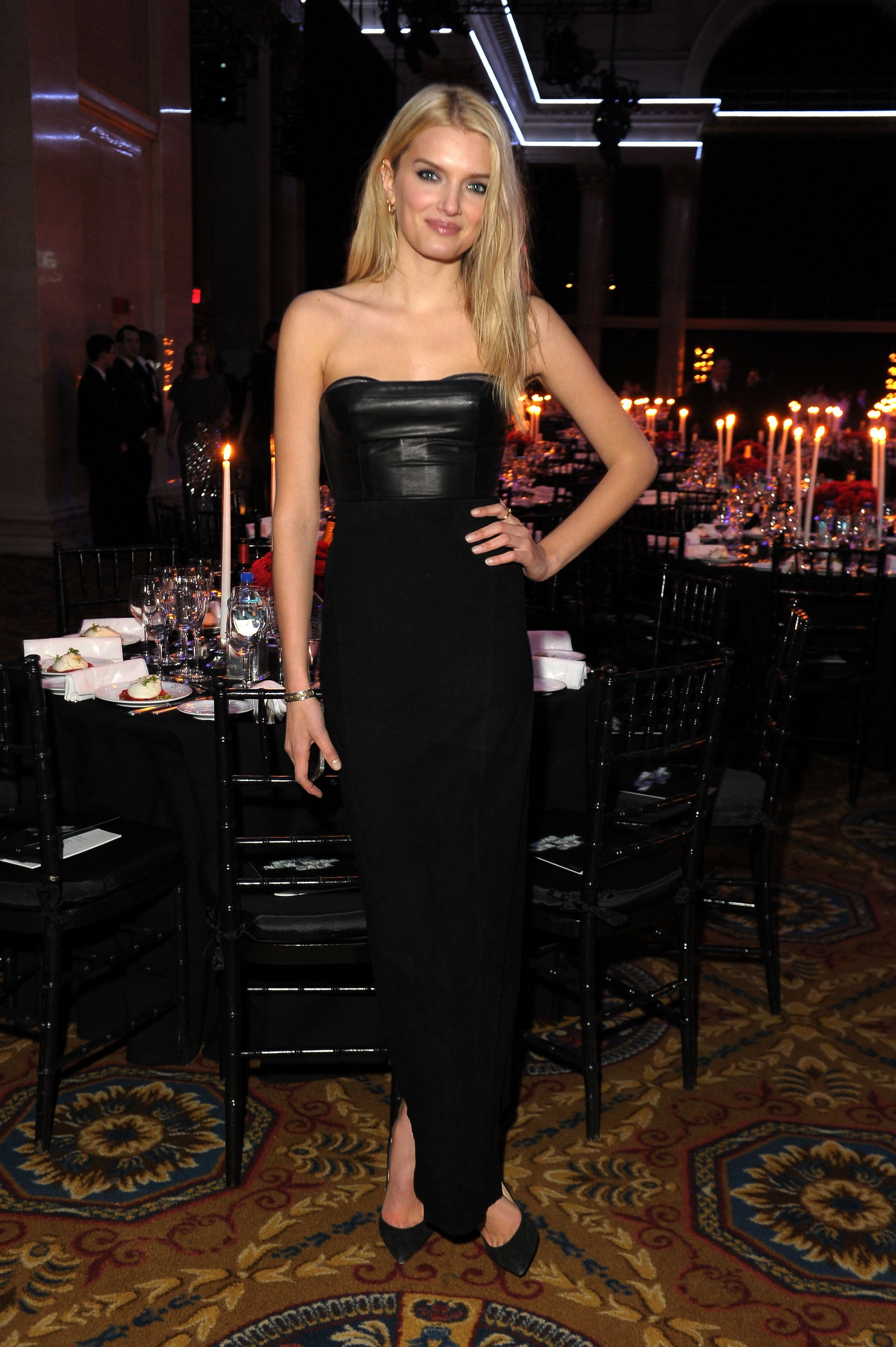 Lily Donaldson attended the amfAR New York Gala.