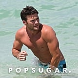 Scott Eastwood Shirtless in Miami July 2016