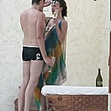Milla Jovovich and Paul W.S. Anderson got close on their balcony.