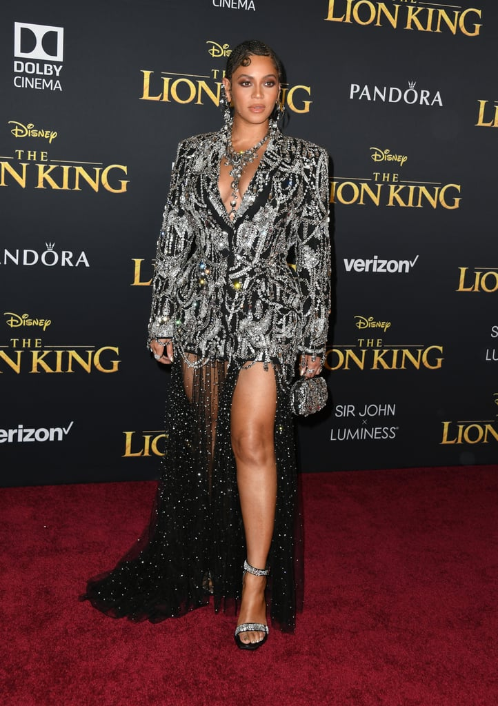 beyonc u00e9 and blue ivy at lion king premiere la 2019