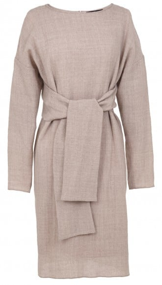 Tibi Aurora Drape Long Sleeve Tie Dress ($445)