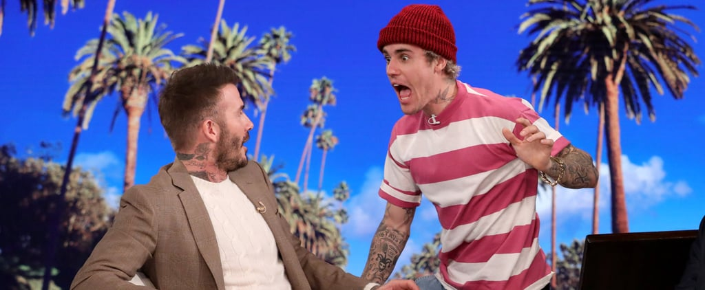 Justin Bieber Scares David Beckham on The Ellen Show | Video