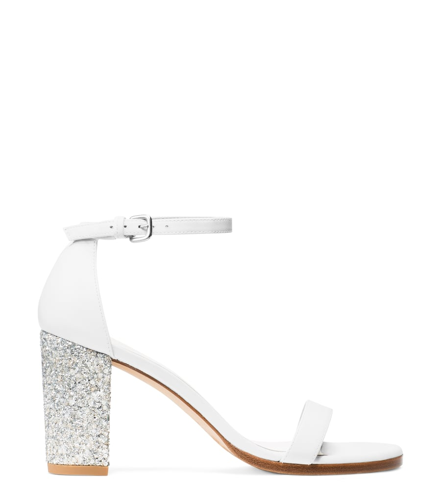 Nearlynude Sandal in Nappa Leather White ($398)