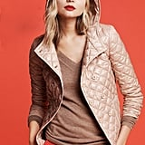 The quilted puffer ($158) in a chic, pretty pink.