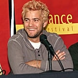Joshua Jackson showed off some seriously blond hair at a press conference for The Laramie Project in 2002.