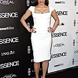 Paula Patton walked the carpet in a fitted cap-sleeve dress with metallic silver pumps and a sexy red pout. Love her shoes? Here are some more metallic heels to shop now.