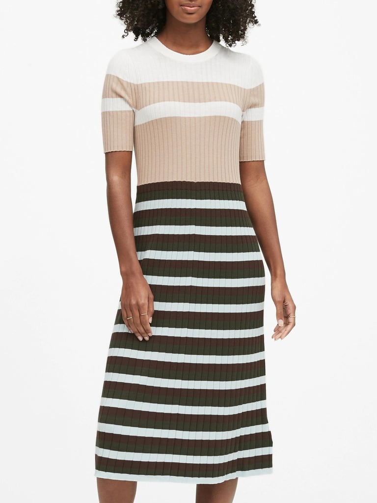 Color-Blocked Midi Dress