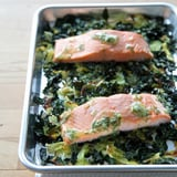 Easy Salmon With Crispy Cabbage and Kale