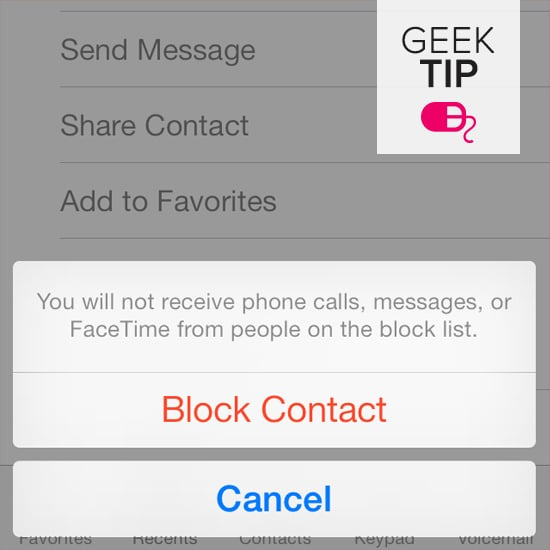 Block an annoying texter.