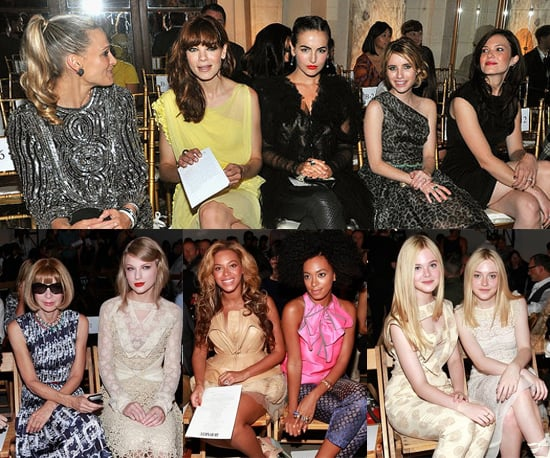 Front Row Celebrity Pictures at 2011 Spring New York Fashion Week
