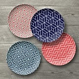 Better Homes & Gardens Mix Geo Design 4pk Salad Plates
