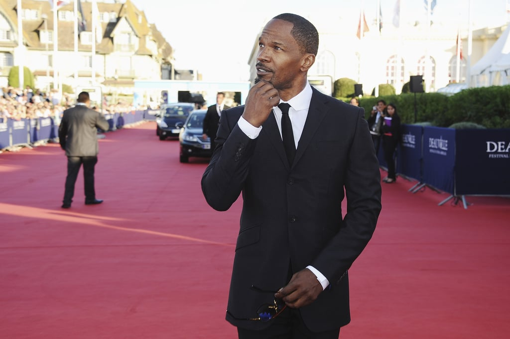 Jamie Foxx was deep in thought at the premiere for White House Down.