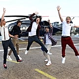 "One Direction Celebrating the Release of ""What Makes You Beautiful"" in 2011"