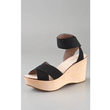 Elastic Strap Wedge Sandals