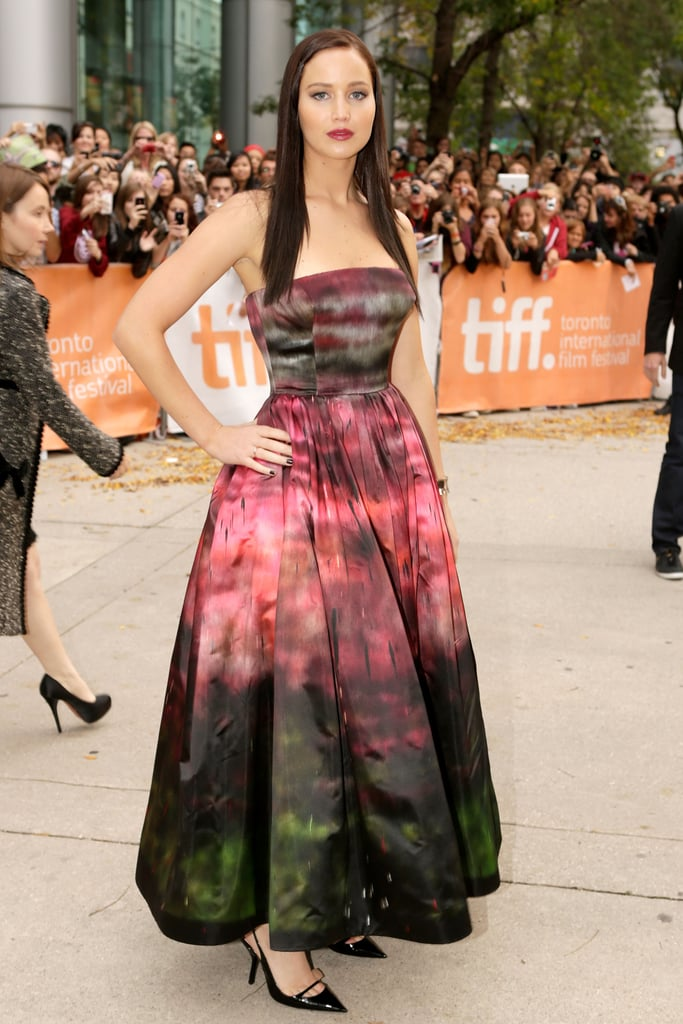 How stunning is the ombré effect on the dress she wore to the Toronto Film Festival premiere of Silver Linings Playbook?