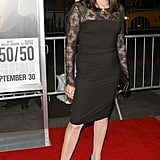 Anjelica Huston at the 50/50 premiere in NYC.